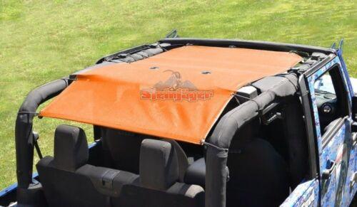Full Solar Sun Shade Screen Top for Jeep Wrangler JK 2010-2018 2 Door 12 Colors