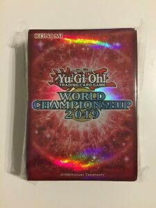 YUGIOH-World-Championship-2019-Hullen-Sleeves-WCS-Rot-Red-Neu-OVP