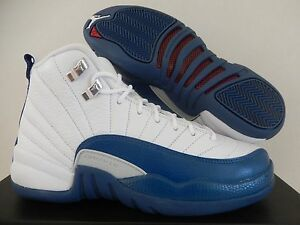 ad4cbf5f803ecd NIKE AIR JORDAN 12 RETRO (BG) WHT-FRENCH BLUE SZ 4.5Y -WOMENS SZ 6 ...