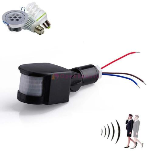 Security PIR Infrared Motion Sensor Detector Wall LED Lights Outdoor RF Black FT
