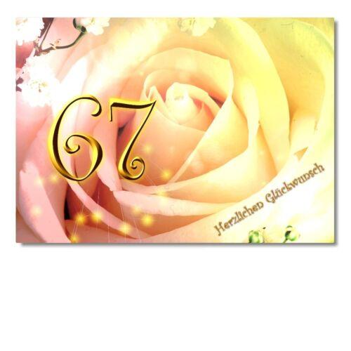 DigitalOase 67 Geburtstag Grußkarte XXL Glückwunschkarte Geburtstagskarten #671