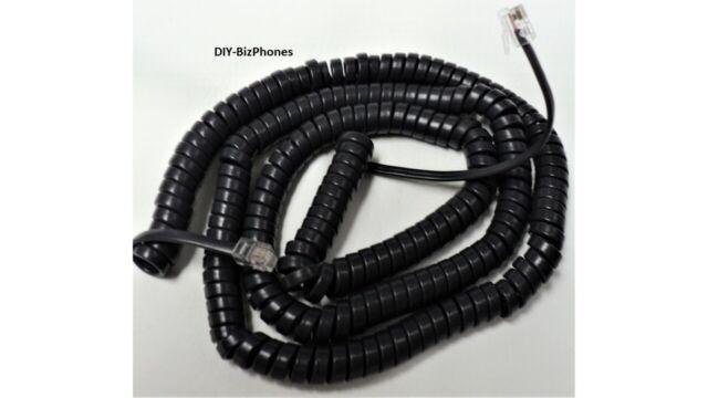 Pack//Lot of 50 Black 9 Ft Phone Handset Cord Nortel Norstar i2004 T7316e 1120e