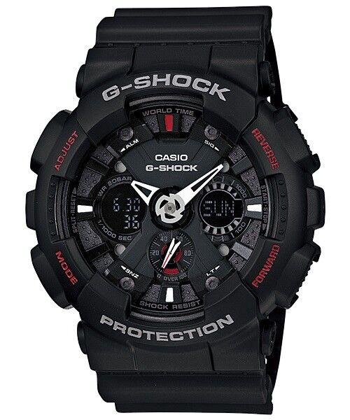 Casio G-Shock Analogue/Digital Mens Black Motorcycle Watch GA-120-1A GA-120-1ADR