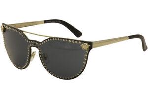 5ab4f1b5a86 Versace Women s VE2177 VE 2177 125-287 Pale Gold Cat Eye Fashion ...