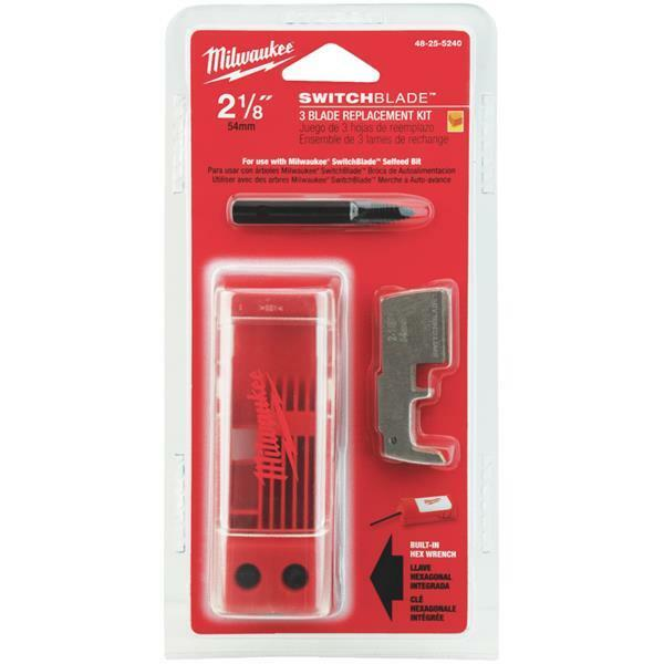 10 Pk Milwaukee SwitchBlade Best High-Quality 2-1 8  3 Pk Replacement Blade Kit