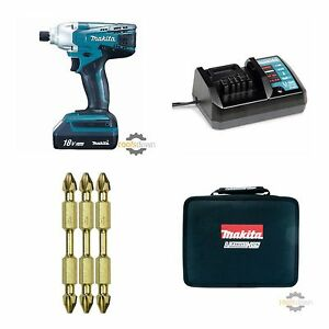 makita 18v cordless impact driver set td127d with lithium battery charger ebay. Black Bedroom Furniture Sets. Home Design Ideas