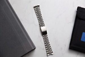 Steel-Jubilee-Bracelet-18mm-With-End-Links-Fits-Rolex-Omega-Seiko-Etc