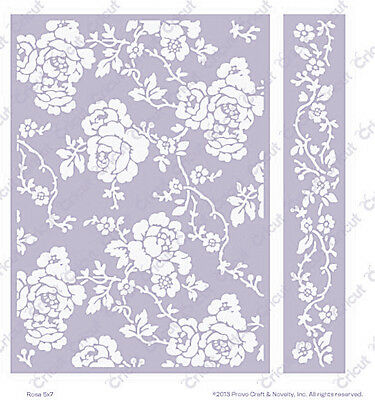 ROSA Cuttlebug Embossing Folder & Border 5x7 by Anna Griffin