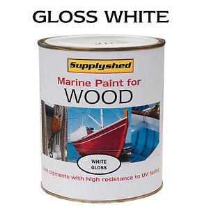 Marine Boat Gloss White For Wooden Boats 750ml Ebay