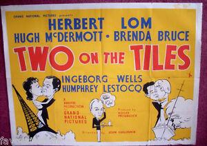Cinema-Poster-TWO-ON-THE-TILES-1951-Quad-Herbert-Lom-Hugh-McDermott