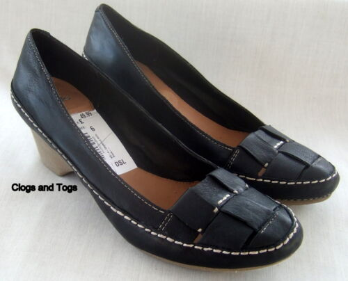 NEW CLARKS GRANOLA RICH WOMENS BLACK LEATHER SHOES