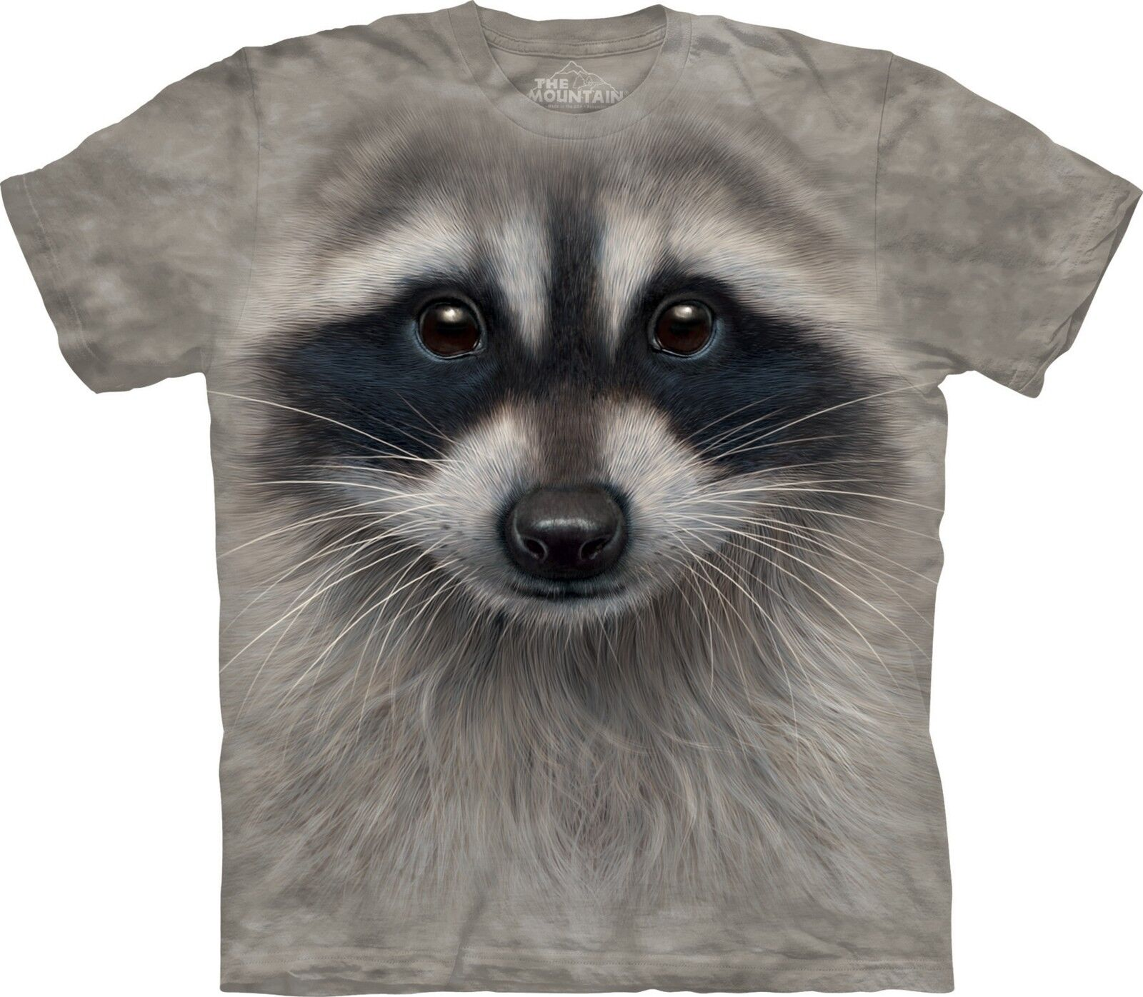 Raccoon Face Animals T Shirt Adult Unisex The Mountain