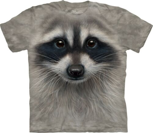 Raccoon Face Animals T Shirt Adult Unisex The Mountain