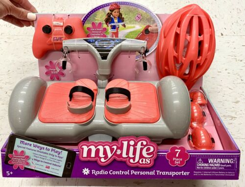 "My Life as Doll Remote Control HoverBoard 18"" American Girl Boy 7 Pc Set New"
