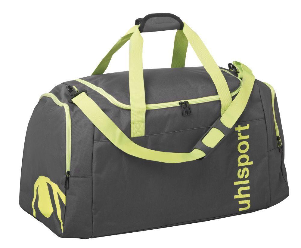 Uhlsport Fußball Essential 2.0 Sporttasche 75L Fußballtasche grau fluo gelb  | Günstige Preise