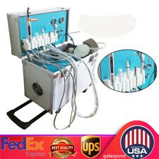 Portable Dental Delivery Unit Mobile Cart Treatment Led Lightair Compressor 2h