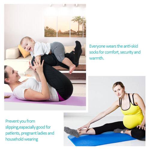 6 Pair Women Non-Slip Yoga Socks with Grip for Pilates Ballet Dance Gym Exercise