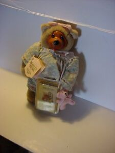 Robert Raikes Signed Courtney 1990 All Ready For Bed with Baby Bear