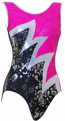 Gymnastic leotard No Sleeves girls gym all sizes FAST DELIVERY UK 004C