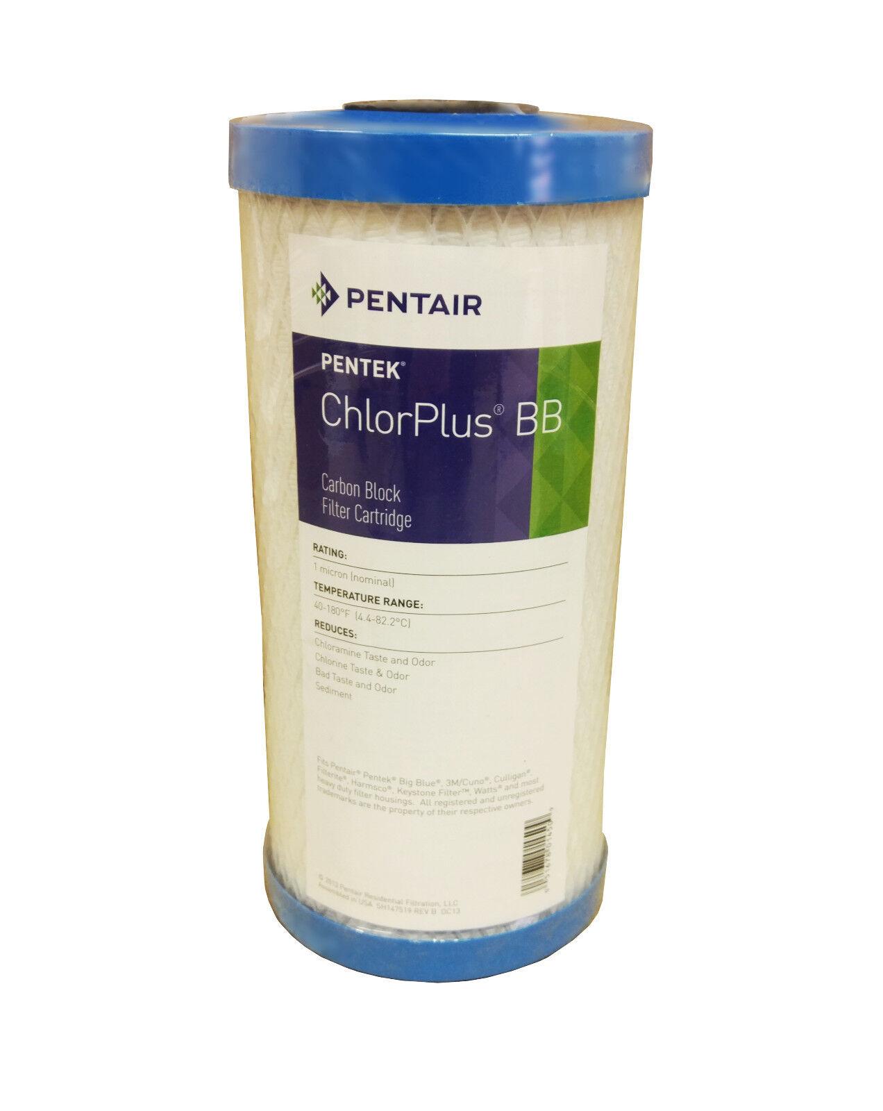 """Pentek Chlorplus10bb 10"""" Grande Cloramina Rimozione 1 Micron"""