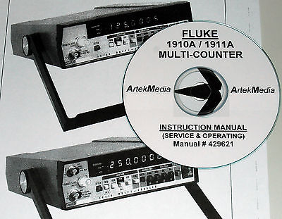 Fluke 429621 1910A 1911A Multi-Counters Instruction Manual