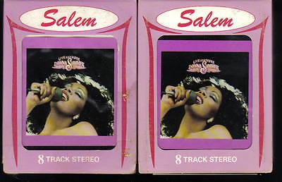 8-Track / 8-Spur Tonband: Donna Summer - Live and more Vol.1 + 2 (Vintage Disco)