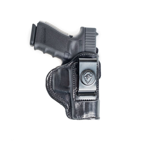 4 IN 1 IWB /& OWB LEATHER HOLSTER FOR RUGER LC9 INSIDE THE PANT.