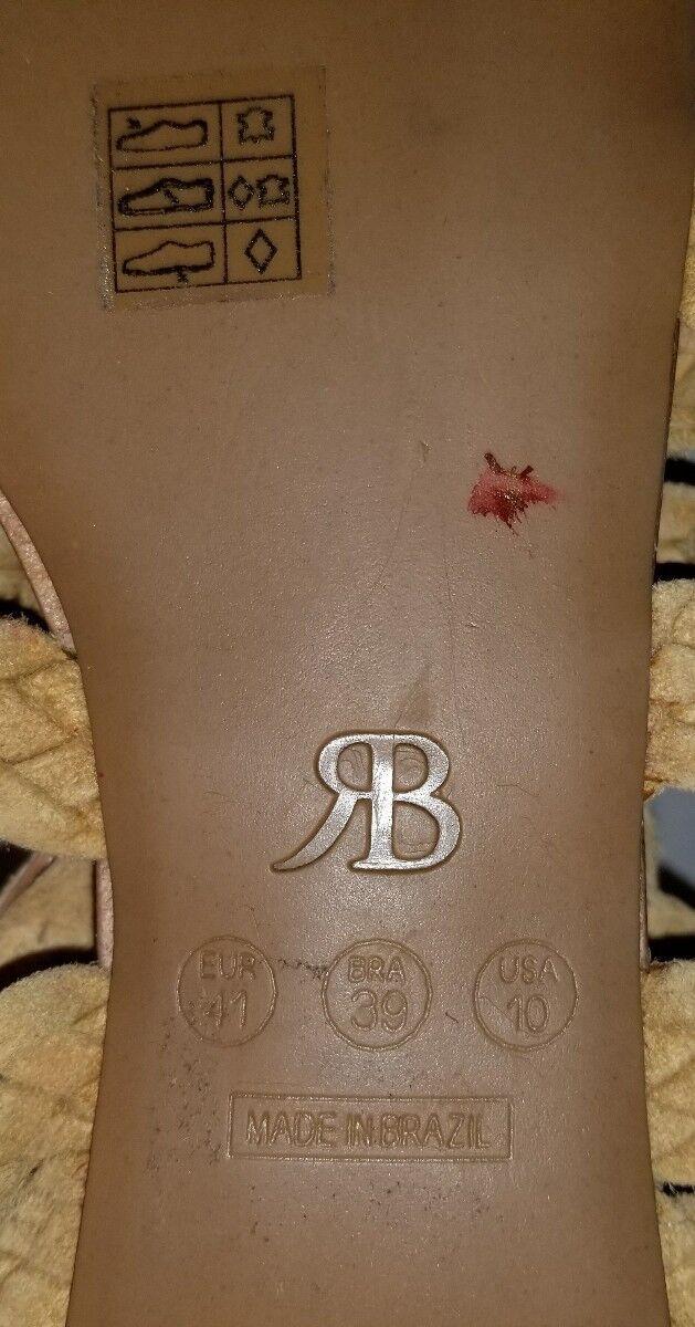 NEW RAPHAELLA BOOZ CAMPANIA WOMEN'S BEADED SANDALS US 9 EUR EUR EUR 39 decd43