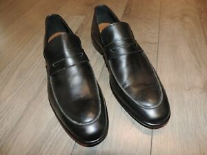 Trussardi-Black-Leather-Loafers-Slip-On-Shoes-10-43