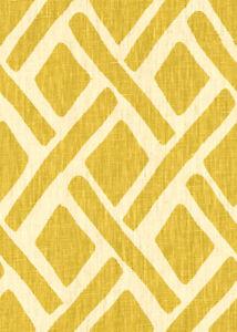 Kravet Geometric Lattice Linen Upholstery Fabric- Treads Sunflower (14) 1.95 yd