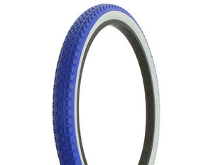 Duro-Heavy-Duty-Blue-White-Wall-Bicycle-Tire-26-034-x-2-125-034-Diamond-Drizzle-Style
