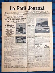 La-Une-Du-Journal-Le-Petit-Journal-26-Juillet-1909-Blreiot-A-Traverse-La-Manche