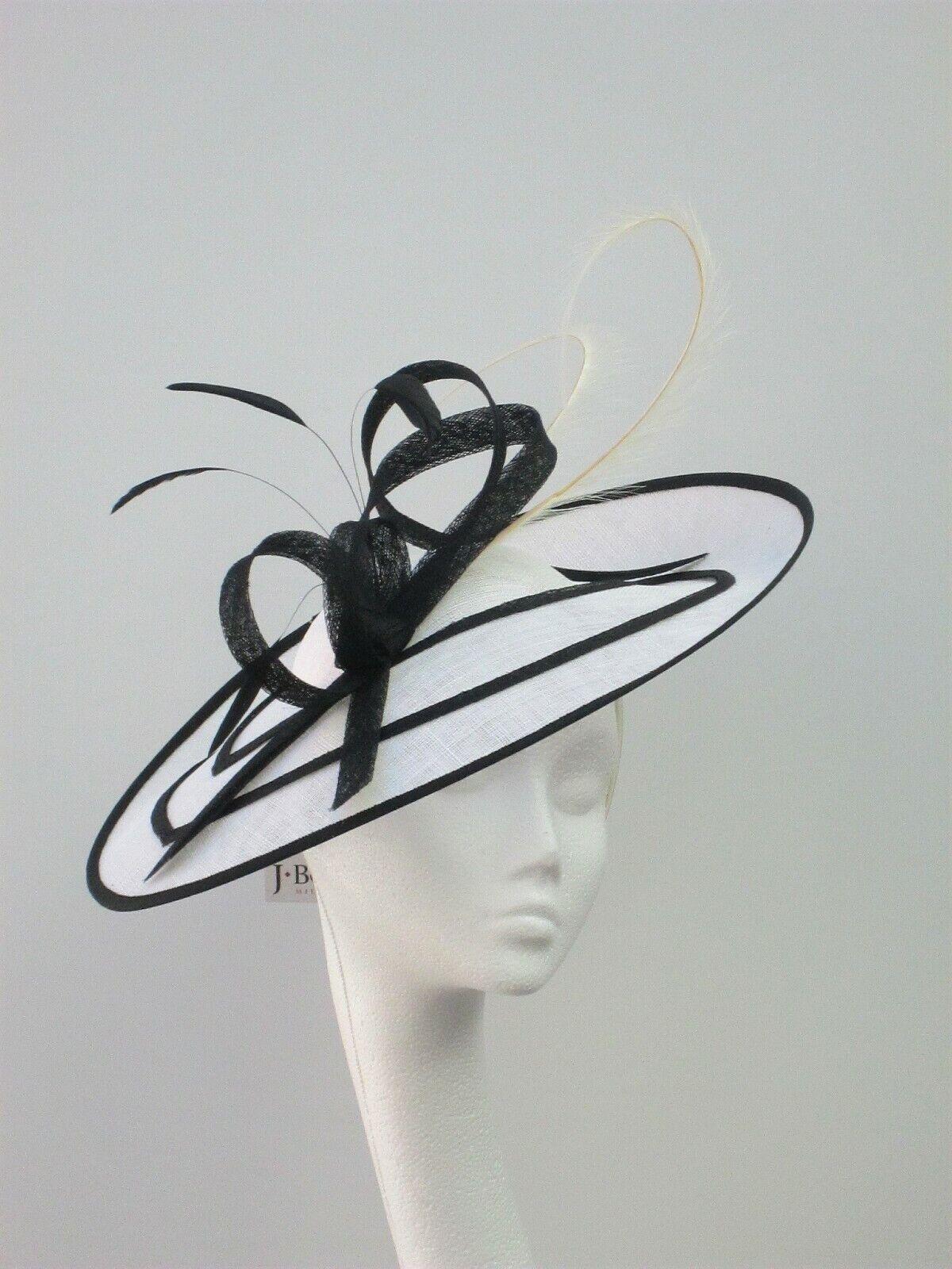 Black & White Fascinator / Hatinator / Hat - MOB, Ascot, Races