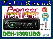 """PIONEER DEH-1800UBG  SINTO/CD/MP3/USB/AUX  + PENDRIVE 8GB   NUOVO Modello 2016 """""""