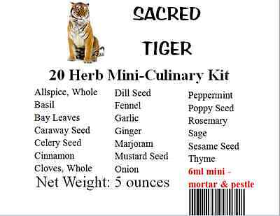 Mini Culinary 20 Herb Sample Kit in a Nice Storage Box Kitchen, Cooking, Baking