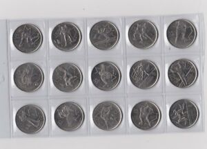 15x Canadian 2010 Vancouver Olympic 2009 Quarter 25 Cent Coin Canada Set