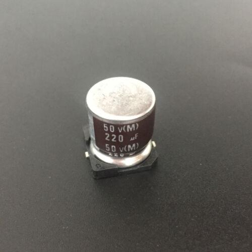 100pcs 220uF 50V ELNA RVJ  50V220uF SMD Electrolytic Capacitor 12.5X13.5mm