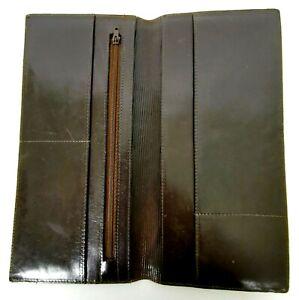 Mens-Leather-Travel-Wallet-Passport-Card-Holder-Document-Organizer-Dark-Brown