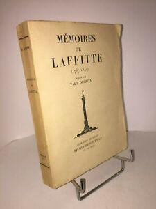 Memoires-de-Jacques-Laffitte-1767-1844-publies-par-Paul-Duchon-Histoire-Banque