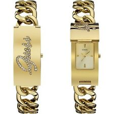GUESS POP ICON ANALOGUE STAINLESS STEEL LADIES WATCH W0321L2