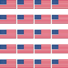 20 Stück USA Länder Fahne Flagge RC Modellbau Mini Deko PVC Aufkleber Sticker