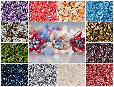 CHOOSE COLOR! 30pcs Czech Glass beads PRECIOSA Candy™  8mm 2 Hole