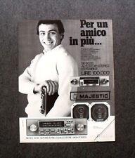 [GCG] M421 - Advertising Pubblicità -1983- MAJESTIC AUTORADIO SD 803 AUTOREVERSE