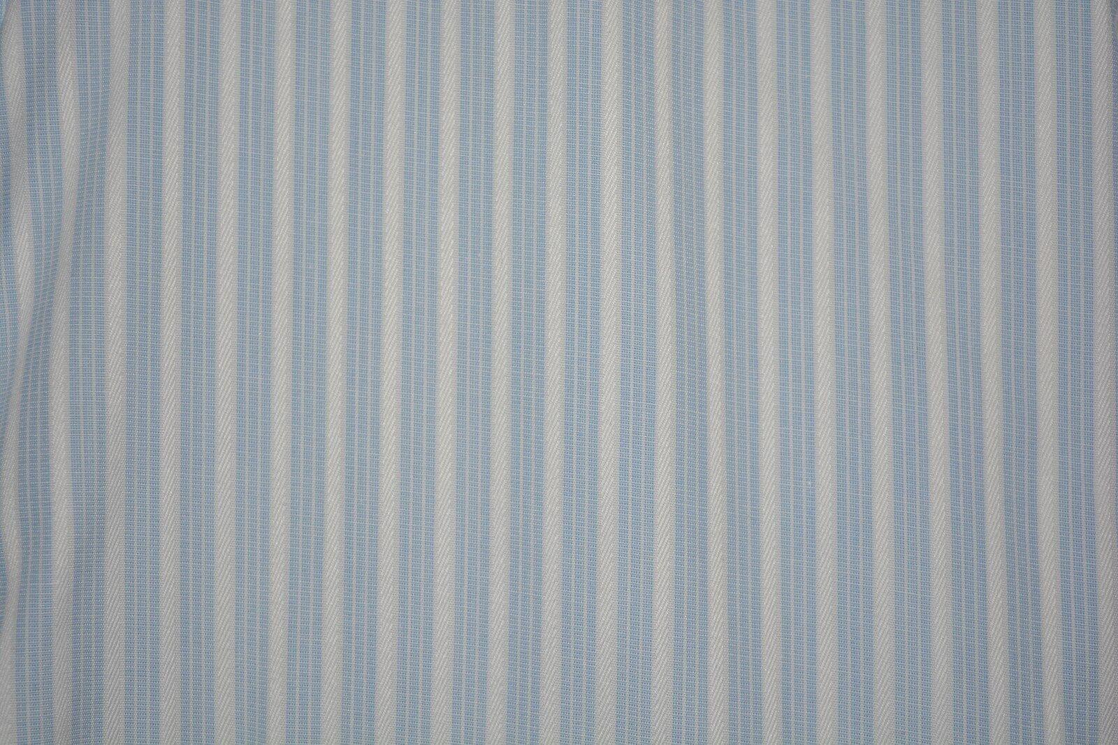 345 Ermenegildo Zegna Weiß Striped Dress Shirt L 16 36