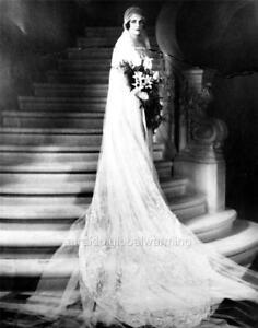 Photo 1920s Nantucket Woman In Long Wedding Dress Ebay