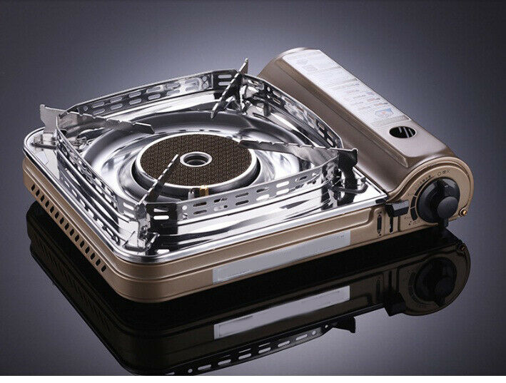 E6 golden Butane Stove Portable Professional Single Gas Burner Camp Cooker Case