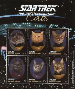Marshall-Islands-2018-MNH-Star-Trek-Next-Generation-Cats-Worf-6v-M-S-II-Stamps