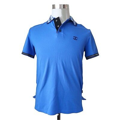 Large 100/% Cotton 50 NWT Just Cavalli Royal Blue Men/'s Polo Shirt Size