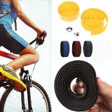 2er Kunstleder Lenkerband Radfahren Fahhrad MTB Griff Bar Tape Atmungsaktiv DE