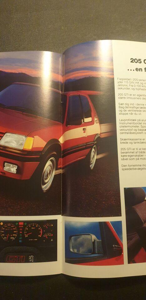 Brochure, Peugeot 205